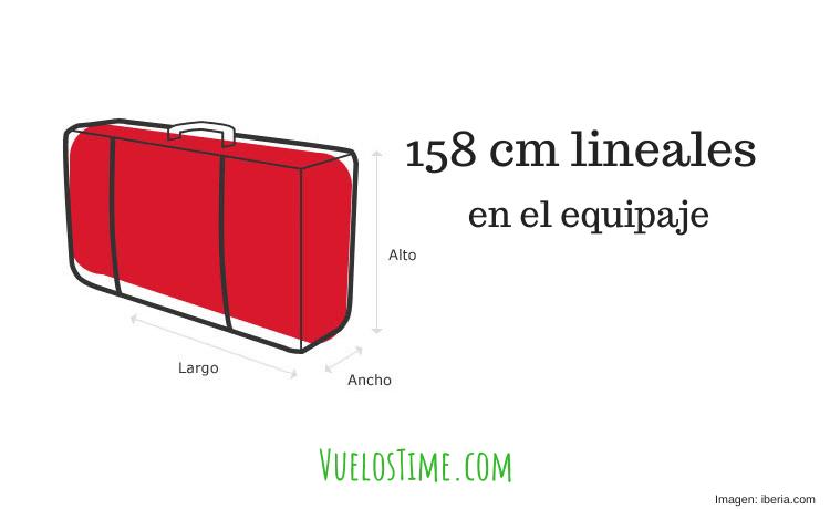 158 cm lineales – Explicación Sencilla [Equipaje, Maletas]
