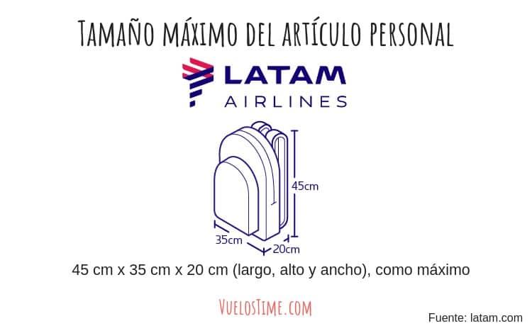 articulo personal bolso cartera mochila latam airlines