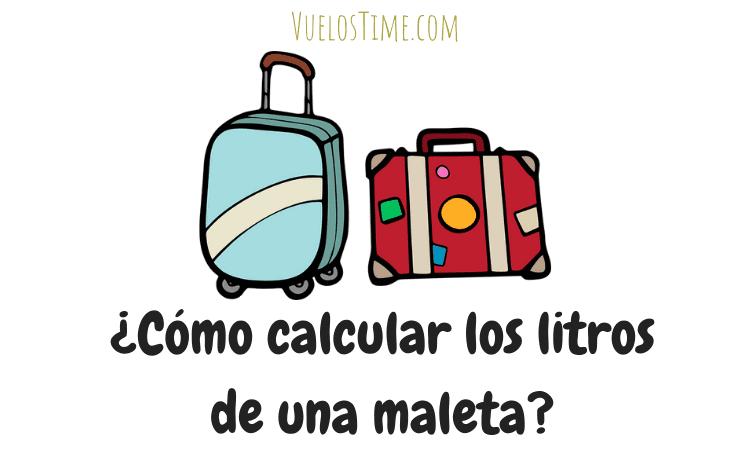 ¿Cómo saber los litros de una maleta? [sabiendo sus dimensiones]