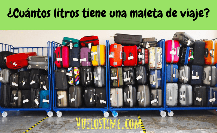 ¿Cuántos litros tiene una maleta de viaje?